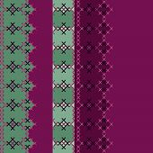 Embroidered Textile Ornamental Seamless Cross-stitch Pattern Background