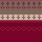 Embroidered Textile Ornamental Seamless Cross-stitch Pattern