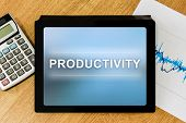 Productivity Word On Digital Tablet