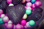 Home Made Chocolates With Decorative Balls - Retro Style