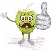Coconut Fruit Juice Mustache
