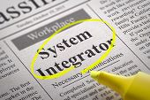 System Integrator Vacancy in Newspaper.