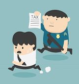 picture of slave  - evasion tax Cartoons concepts Illustration vector eps10 - JPG
