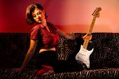 Pin Up with Guitar
