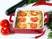 Vegetable Baked Pudding