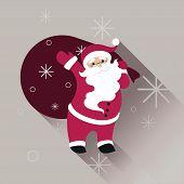 Santa Claus In Sunglasses With Big Bag