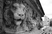 Bas Relief Of A Lion On The Bridge In Rome