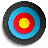 pic of multi purpose  - Vector illustration of a multi color target - JPG