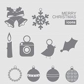 Christmas and New Year vector icon.