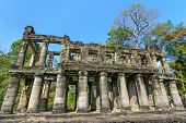 stock photo of reign  - Preah Khan was built in 1191 during the reign of King Jayavarman VII - JPG