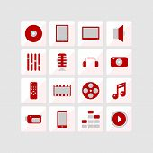Icons Of Multimedia.