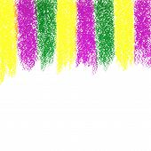 Vector Mardi Gras pastel crayon background