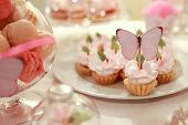 organization of the wedding celebration, cakes with butterfly