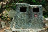 original garbage container in Huangshan park