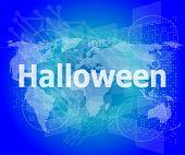 Screen Digital With Holiday Halloween Word