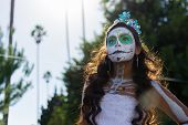Unknown Girl At The 15Th Annual Day Of The Dead Festival