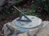 image of sundial  - close up of a sundial during the day - JPG