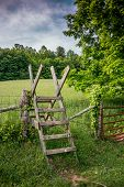 Stile Over A Fence Along The Appalachian Trail