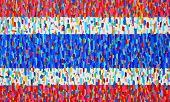 (flag Of Thailand) Texture, Background And Colorful Image Of An Original Abstract Painting