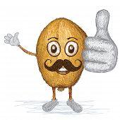 Golden Apple Fruit Mustache