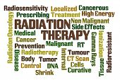 stock photo of radiation therapy  - Radiation Therapy word cloud on white background - JPG