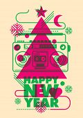 Modish New Year poster design. Vector illustration.