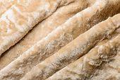 Folds In Sheepskin Jacket