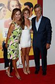NEW YORK-AUG 4: (L-R) Actress Lena Olin, daughter Tora Hallstrom and director Lasse Hallstrom attend