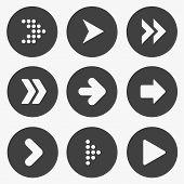 Set of stencil arrows.