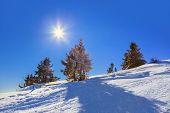 Mountains ski resort St. Gilgen Austria - nature background