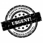 Urgent. Rubber Stamp, Grunge, Circle