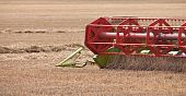 Harvester Blades Cutting The Wheat