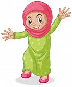 stock photo of muslim kids  - Close up muslim kid smiling	  - JPG