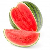 picture of watermelon  - Sweet watermelon isolated on white background cutout - JPG