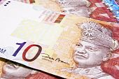 picture of ringgit  - Close up on paper notes Malaysian 10 Ringgit - JPG