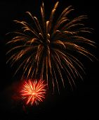 foto of firework display  - Fourth of July fireworks display on America - JPG