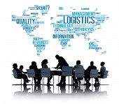 foto of production  - Logistics Management Freight Service Production Concept - JPG