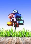 picture of nesting box  - Summer grass - JPG