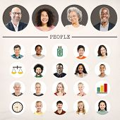 pic of diversity  - Faces People Diversity Community Portrait Concept - JPG