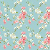 stock photo of pattern  - Spring Blossom Flowers Background  - JPG