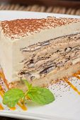 picture of ice-cake  - Italian dessert - JPG