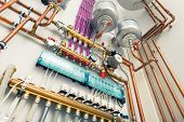 picture of boiler  - independent heating system in boiler - JPG