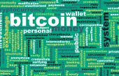 stock photo of currency  - Bitcoin or Bitcoins as a Crypto Currency Concept - JPG