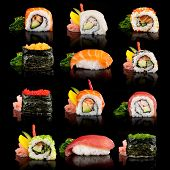 stock photo of sushi  - Delicious sushi - JPG