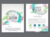 picture of pamphlet  - Colorful two pages business brochure - JPG