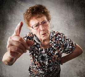 picture of disapproval  - Scolded the old woman - JPG