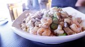 stock photo of malaysian food  - Malaysian special shrimp fried rice at restaurant - JPG