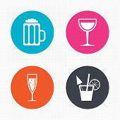 pic of sparkling wine  - Circle buttons - JPG