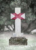 pic of alabama  - Old weathered gravestone in the cemetery  - JPG