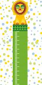 image of measuring height  - funny lion in the circus on white background Children height meter wall sticker kids measure - JPG